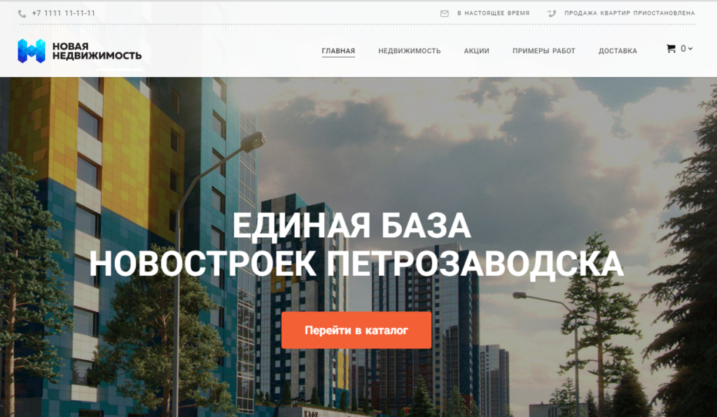 Сайт-визитка на NetHouse