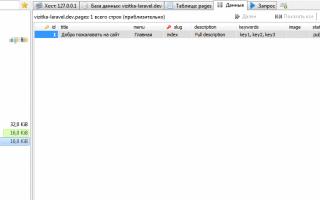 Сайт-визитка на Laravel. Этап 6 – заполнения таблиц данными или seeding
